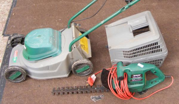 Qualcast mower & hedgecutter