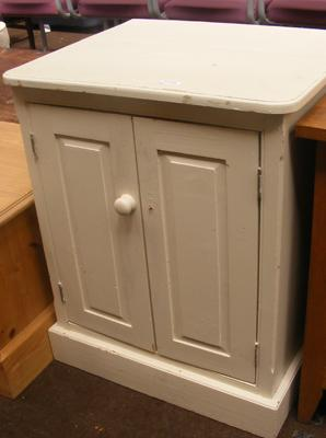 Painted pine cupboard