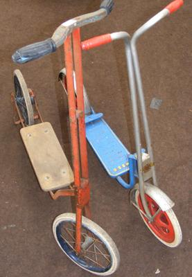 2x Vintage children's scooters inc Mobo