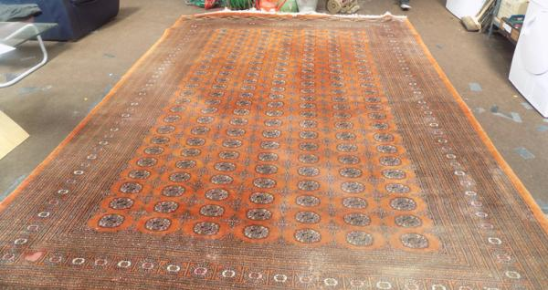 Large woven rug approx 150 inches x 112 inches