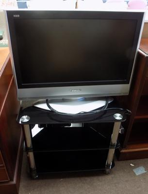 Panasonic TV & glass stand