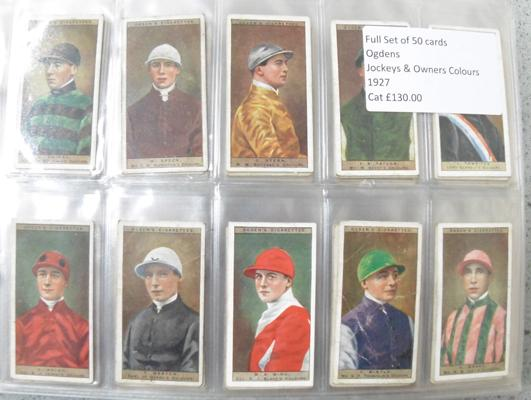 Ten full sets of cigarette cards and others