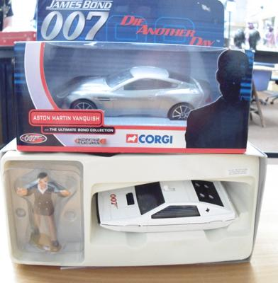 2 boxed Corgi, James Bond vintage diecast cars