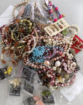 Large amount of costume jewellery