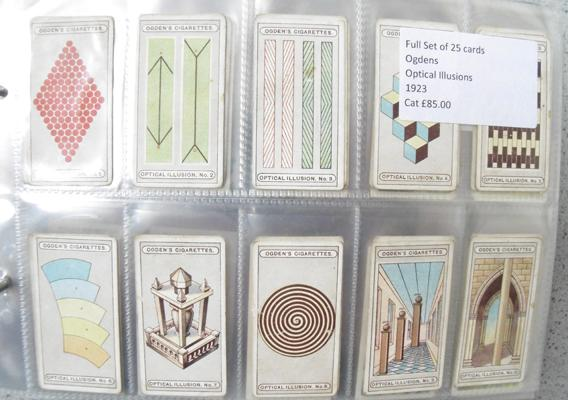 Nine full sets of cigarette cards and others