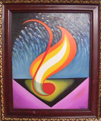 Framed oil on board by RSA artist Wadsworth Smith 'November 5th' - 19 inches x 14 inches