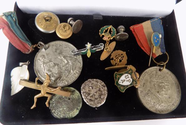 Selection of medals/badges/coins