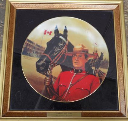 Framed Scarlet & Gold Limited Edition plate by Robert Banks