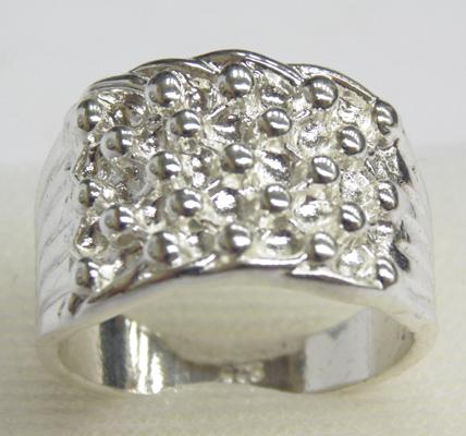 925 silver stamped, 5 row keeper ring, size W 1/2
