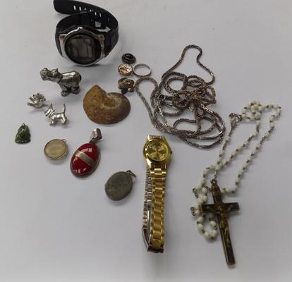 Joblot of vintage/antique jewellery inc silver