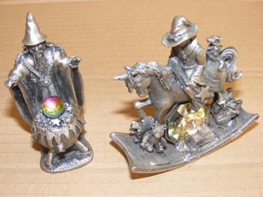 2x Tudor Mint pewter Myth & Magic figures - The Nursery, The Cauldron of Light
