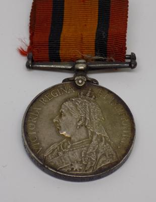 Queen's South Africa medal 1899-1902, HMS Pelons, F.W. Greep STO