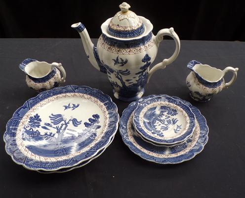 Selection of 'Real Old Willow' by Booths China
