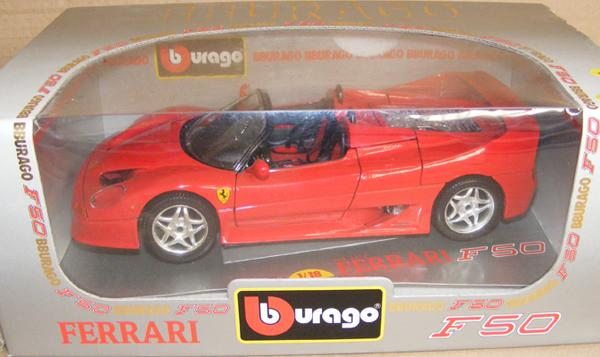 Large scale 1/18 boxed Burago Ferrari - mint condition