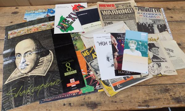 Assortment of vintage ephemera incl. music sheets, programmes etc.