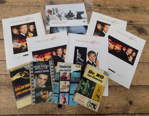 Goldeneye study guides and other James Bond film memorabilia incl. books