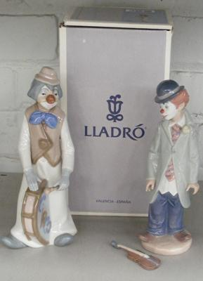 Lladro boxed Circus Sam (damaged hand) + Cascades clown