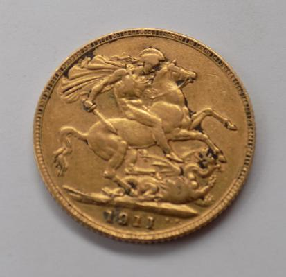 1911 full 22ct sovereign coin