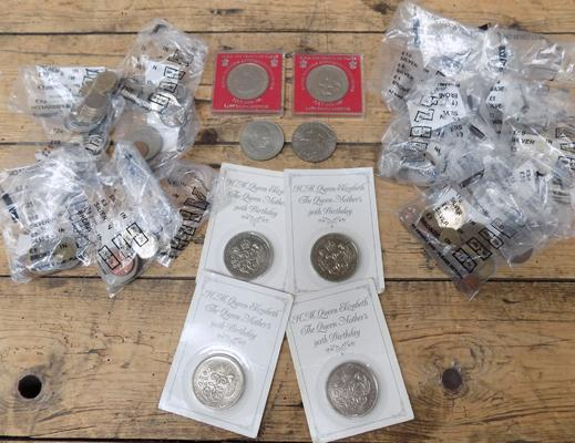 Assortment of coins incl. foreign, Roman, Churchill and Royal mint