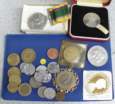 Collection of coins + cadet medals