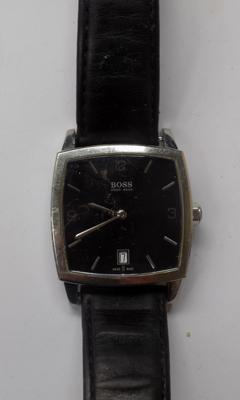 Genuine Hugo Boss gents wristwatch fitted with new battery