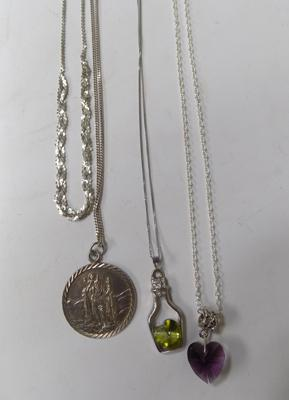 Selection of necklaces inc silver