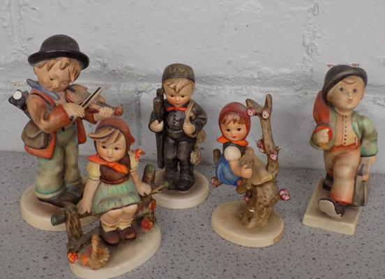 Selection of Hummel figures (one at fault)