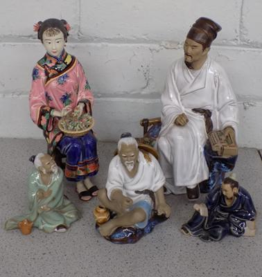 Selection of oriental figurines