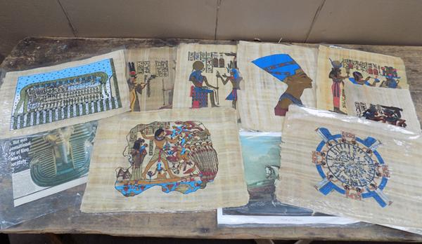 Selection of Egyptian Papyrus