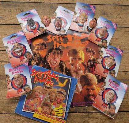 Spitting Image memorabilia, incl. 12 fridge cling-ons etc...