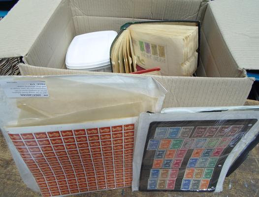 Large box of stamps, earlier material etc...
