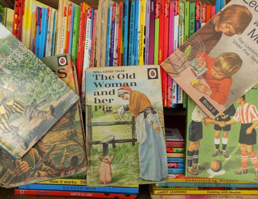Vintage Ladybird books and various children's titles
