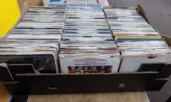 Large box of mixed singles - 200+