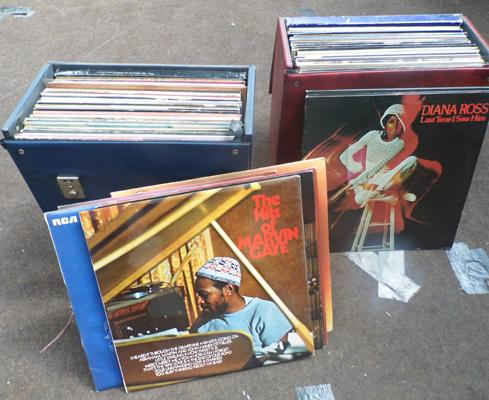 2 boxes of LP's incl. Motown etc.