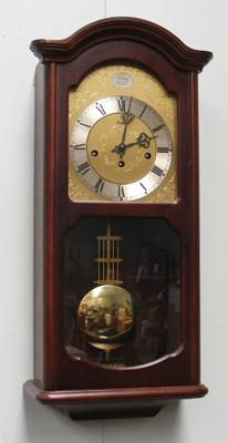 FHS German Tempus Westminister Chimes wall clock, with pendulum and key