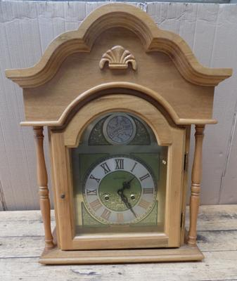 Large wall hanging pine clock-no winder