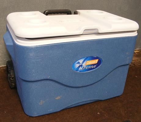 Large Coleman cool box with wheels