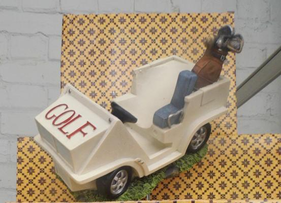 4 novelty Golf cart wine/ spirit bottle holders