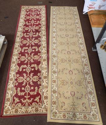 Beige legacy runner and red legacy runner (60cm x 230cm)