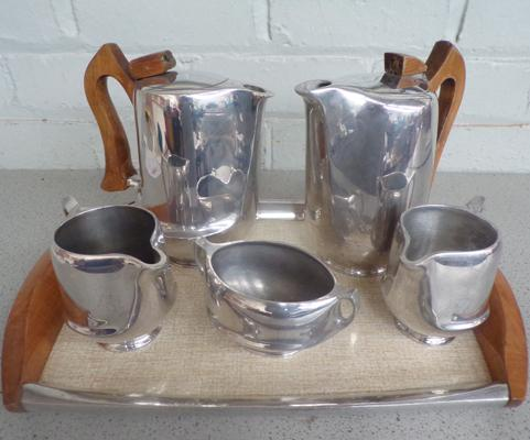 Original tray + Picquet coffee set, 6 piece