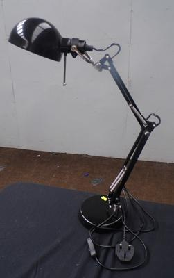 Angle poise lamp in black - W/O