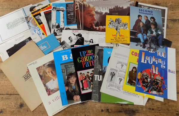 Selection of film and TV promo packs and posters incl. 'Till Death us do Part'