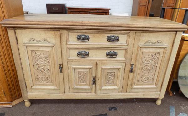 "Light oak coloured fronted sideboard - width 62"" x depth 21"" x Height 36 1/4"""