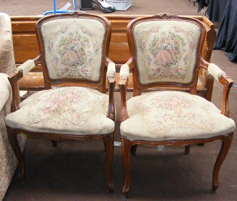 Pair of Victorian bedroom chairs