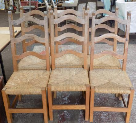 6 high back dining chairs