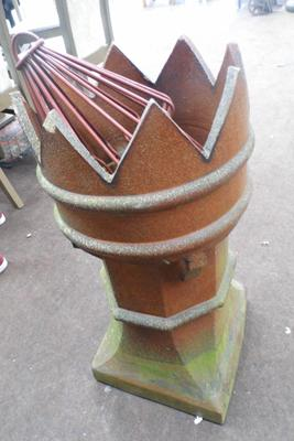 Victorian chimney pot with cowl