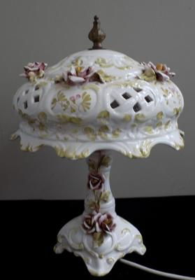 Ornate ceramic lamp