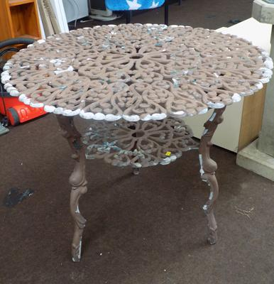 Metal garden table