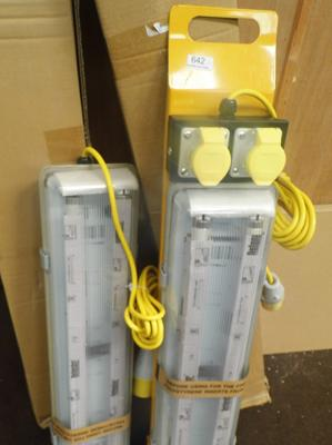 2 110V work lights