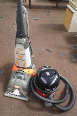 Vax carpet washer and Henry vacuum cleaner